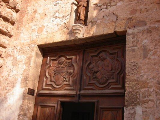 détail porte basilique St Maximin