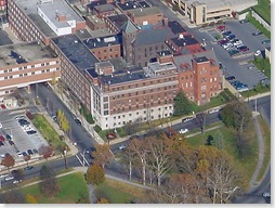 Reading Hospital, Aerial Photo Before Construction